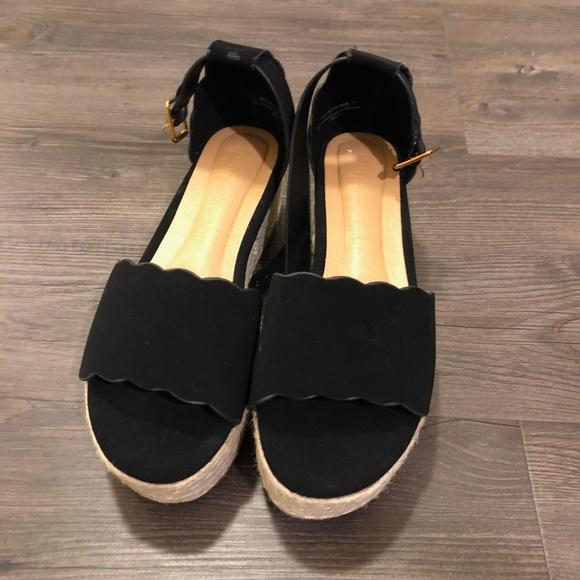 BAMBOO Shoes - Bamboo Espadrille Platform Sandal